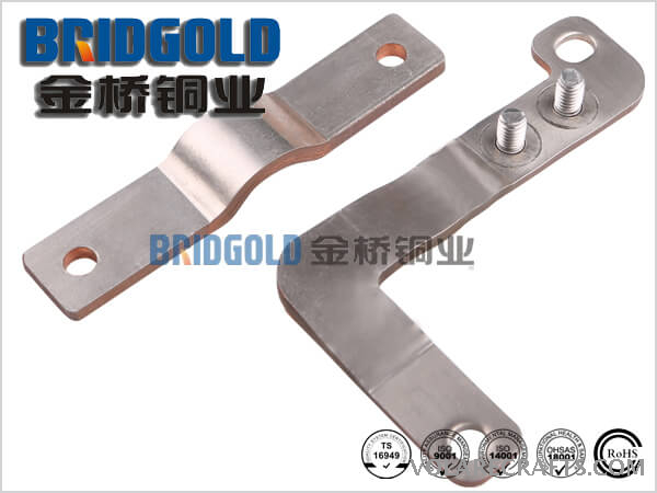 Flexible Laminated Copper Connectors with Nickel Foils or Silver Foils on Upper and Lower Laminations